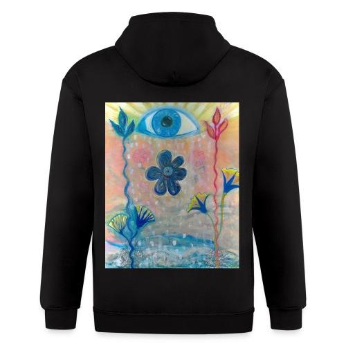 The Eye of Wisdom, Men's Tie Dye T-shirt - Men's Zip Hoodie