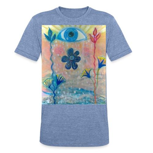 The Eye of Wisdom, Men's Tie Dye T-shirt - Unisex Tri-Blend T-Shirt