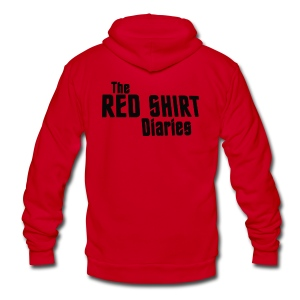 The Red Shirt Diaries Red Shirt - Unisex Fleece Zip Hoodie by American Apparel