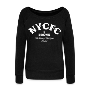 N.Y.C.F.C & Bronx – Men's T-Shirt, Black - Women's Wideneck Sweatshirt