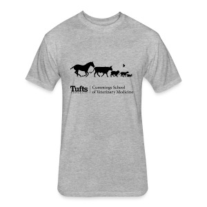 Men's Long Sleeve T-shirt - Running Animals - Fitted Cotton/Poly T-Shirt by Next Level