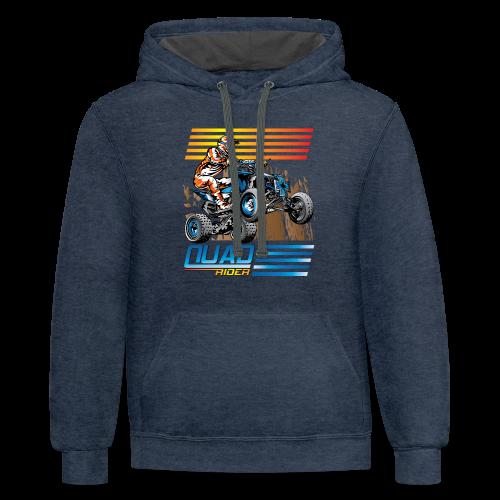 ATV Quad Rider - Contrast Hoodie