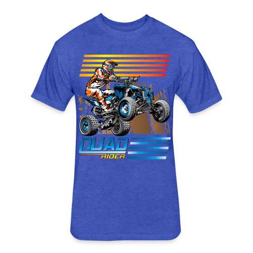 ATV Quad Rider - Fitted Cotton/Poly T-Shirt by Next Level