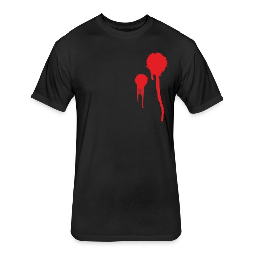Gunshot Wound - Fitted Cotton/Poly T-Shirt by Next Level