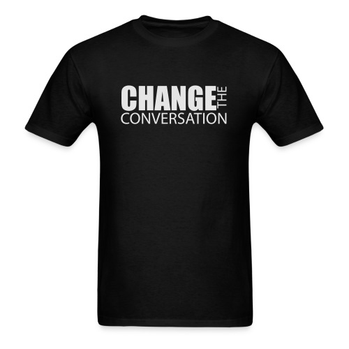 Change the Conversation Wide Neck Tee - Men's T-Shirt