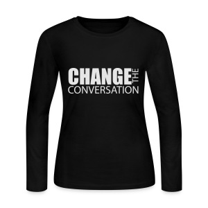 Change the Conversation Wide Neck Tee - Women's Long Sleeve Jersey T-Shirt