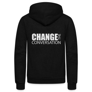 Change the Conversation Wide Neck Tee - Unisex Fleece Zip Hoodie by American Apparel
