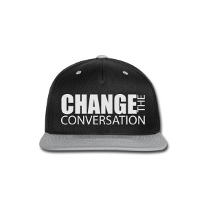 Change the Conversation Wide Neck Tee - Snap-back Baseball Cap