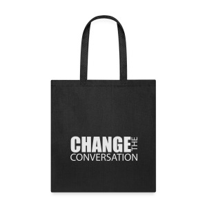 Change the Conversation Wide Neck Tee - Tote Bag