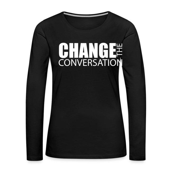 Change the Conversation Wide Neck Tee