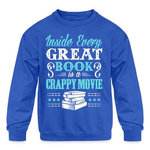Book Lovers Hoodie - Kids' Crewneck Sweatshirt
