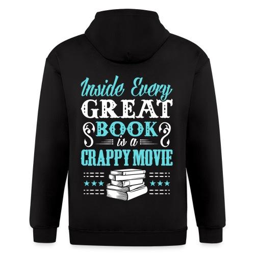 Book Lovers Hoodie - Men's Zip Hoodie