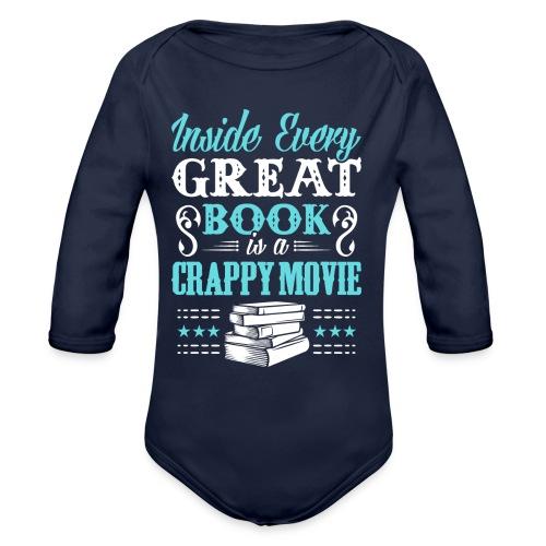 Book Lovers Hoodie - Organic Long Sleeve Baby Bodysuit