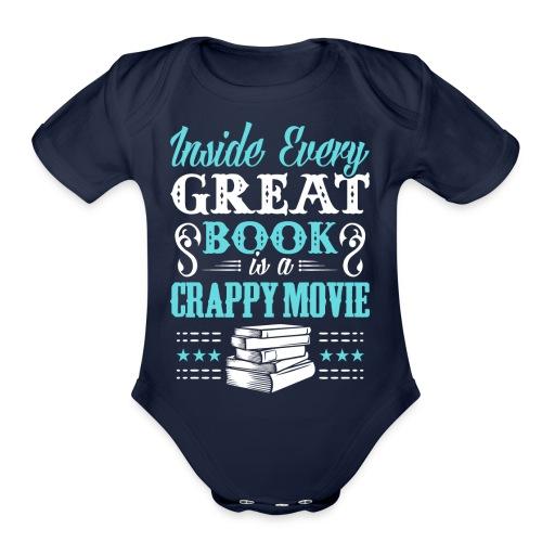 Book Lovers Hoodie - Organic Short Sleeve Baby Bodysuit