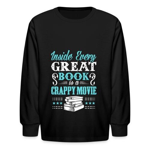 Book Lovers Hoodie - Kids' Long Sleeve T-Shirt