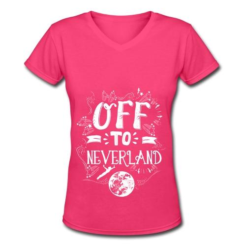 Neverland Women's Hoodie  - Women's V-Neck T-Shirt