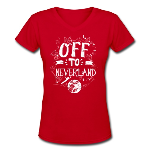 Neverland Women's Hoodie  - Women's V-Neck T-Shirt