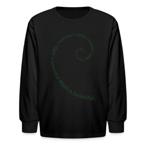 Fibonacci Spiral Kids' Tee - Kids' Long Sleeve T-Shirt