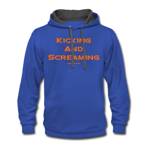Kicking and Screaming - Mens T-shirt - Contrast Hoodie