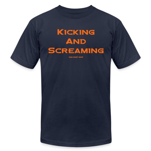 Kicking and Screaming - Mens T-shirt - Men's Fine Jersey T-Shirt