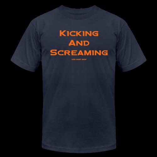 Kicking and Screaming - Mens T-shirt - Men's Fine Jersey T-Shirt