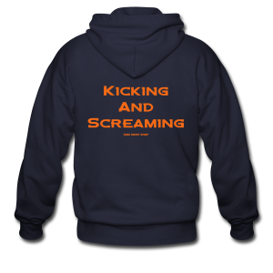 Kicking and Screaming - Mens T-shirt - Men's Zip Hoodie