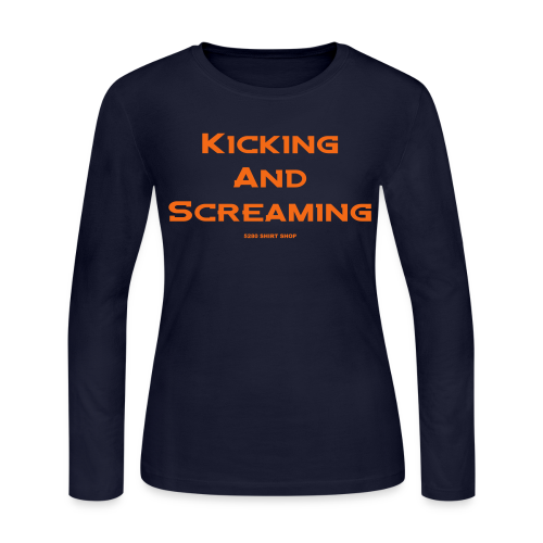 Kicking and Screaming - Mens T-shirt - Women's Long Sleeve Jersey T-Shirt