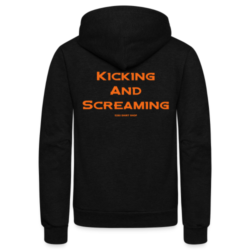 Kicking and Screaming - Mens T-shirt - Unisex Fleece Zip Hoodie