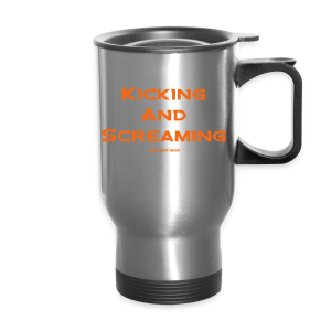 Kicking and Screaming - Mens T-shirt - Travel Mug