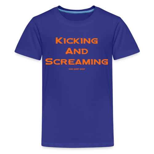 Kicking and Screaming - Mens T-shirt - Kids' Premium T-Shirt