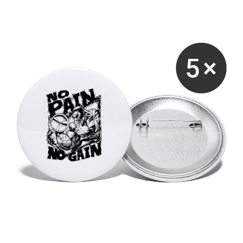 No Pain No Gain - Buttons large 2.2'' (5-pack)