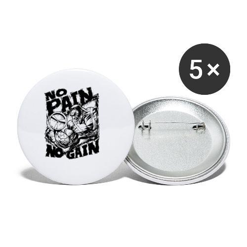 No Pain No Gain - Buttons small 1'' (5-pack)