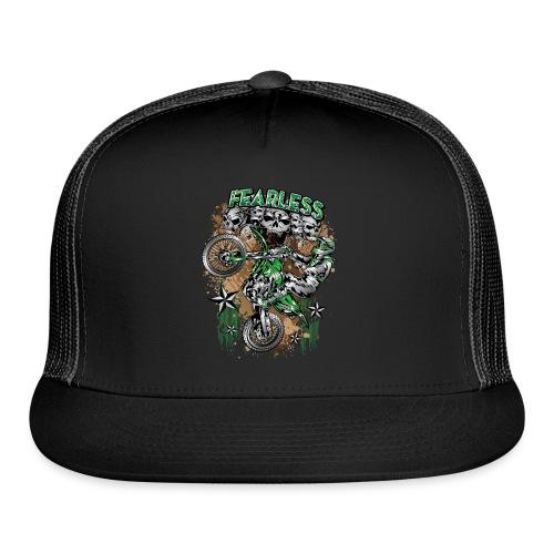 Fearless Dirt Biker Green - Trucker Cap
