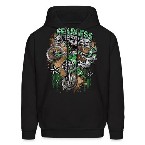 Fearless Dirt Biker Green - Men's Hoodie