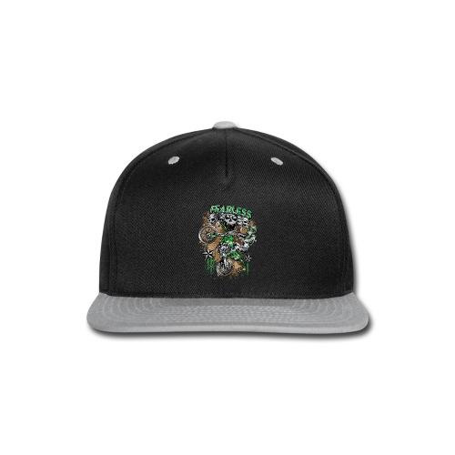 Fearless Dirt Biker Green - Snap-back Baseball Cap