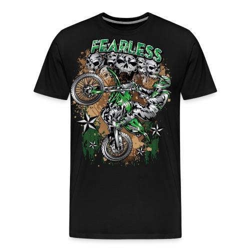 Fearless Dirt Biker Green - Men's Premium T-Shirt