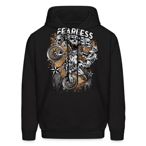 Fearless Motocross White - Men's Hoodie