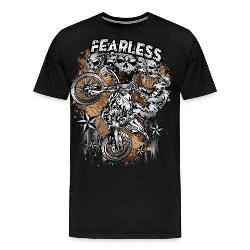 Fearless Motocross White - Men's Premium T-Shirt
