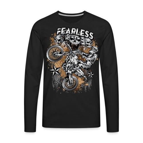 Fearless Motocross White - Men's Premium Long Sleeve T-Shirt