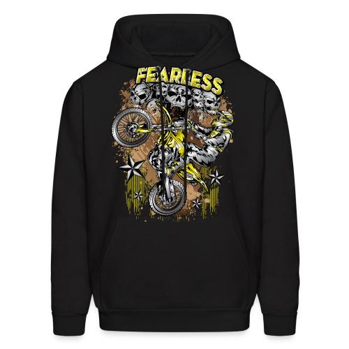 Fearless Motocross Yellow - Men's Hoodie