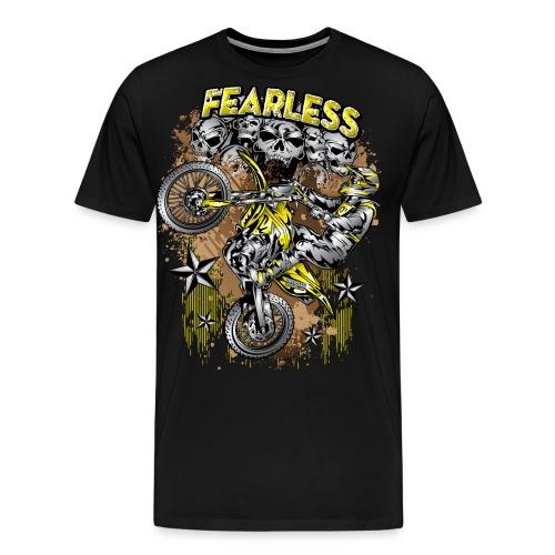 Fearless Motocross Yellow - Men's Premium T-Shirt