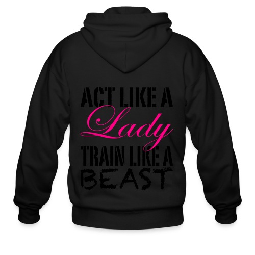 Act Like A Lady - Men's Zip Hoodie