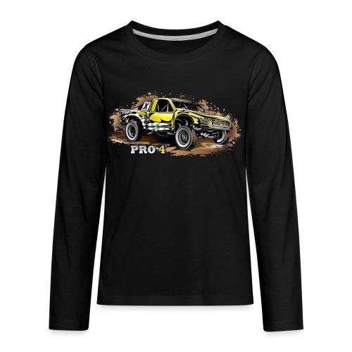 Pro 4 Race Truck - Kids' Premium Long Sleeve T-Shirt