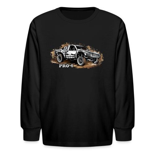 Pro 4 Race Truck - Kids' Long Sleeve T-Shirt