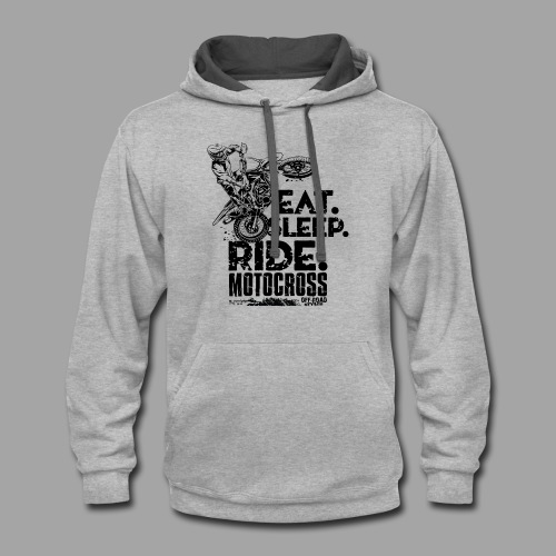 Motocross Eat Sleep Ride - Contrast Hoodie