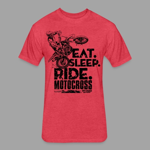 Motocross Eat Sleep Ride - Fitted Cotton/Poly T-Shirt by Next Level