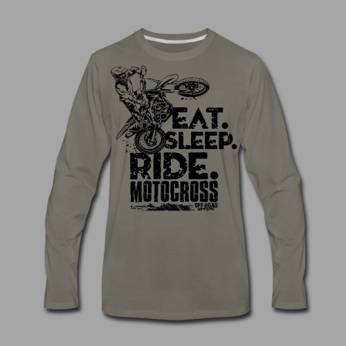 Motocross Eat Sleep Ride - Men's Premium Long Sleeve T-Shirt