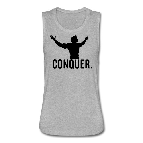 Arnold Conquer - Women's Flowy Muscle Tank by Bella