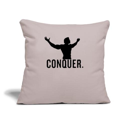"Arnold Conquer - Throw Pillow Cover 18"" x 18"""