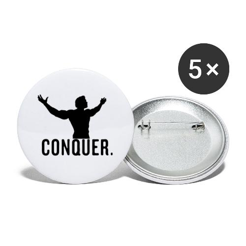 Arnold Conquer - Buttons large 2.2'' (5-pack)